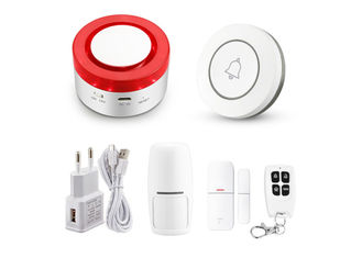2 In 1 Wireless Home Alarm Systems Wifi Siren Hub 120DB With Tuya Platform Alexa Google